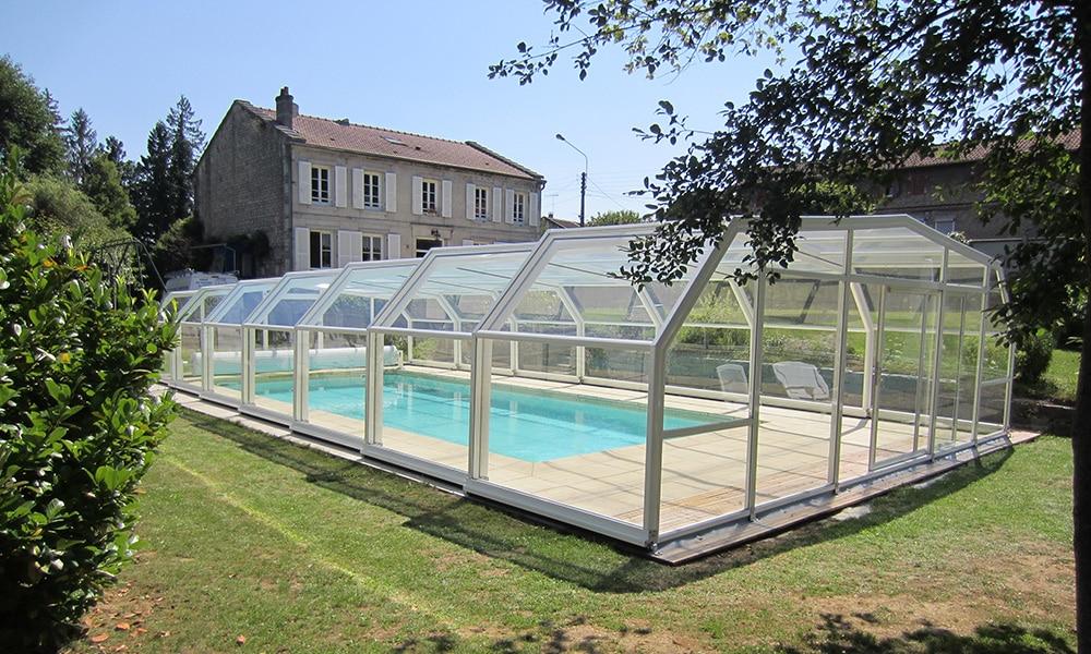 Abri de piscine haut Arcadia - Rachecourt-sur-Marne (52)