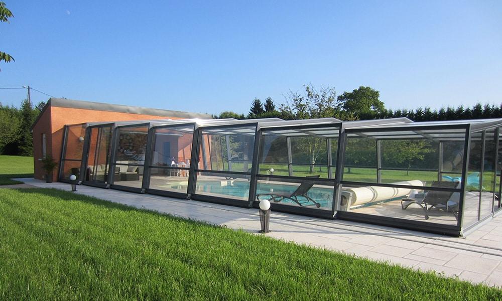 Abri de piscine haut Discret - Sauvigney-lès-Pesmes (70)