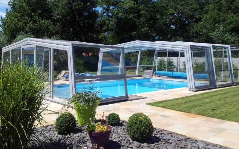 Abri de piscine haut Discret