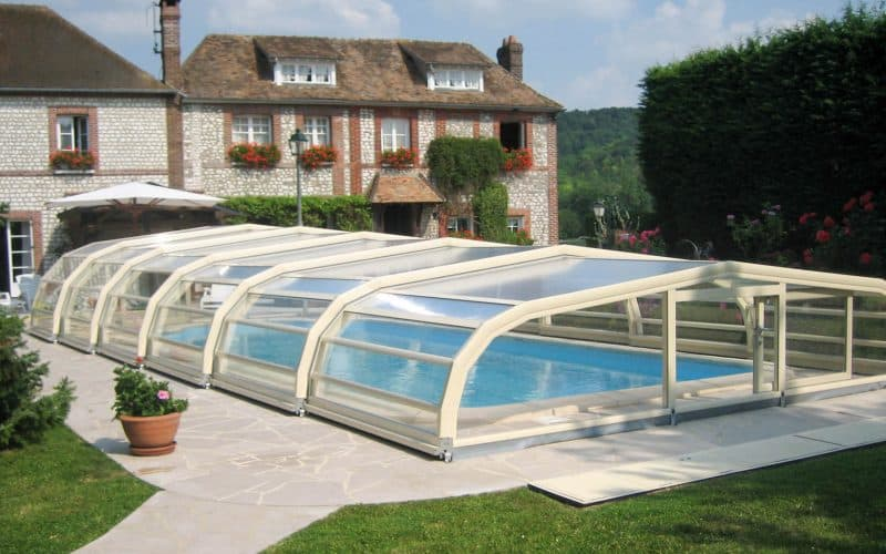 Abri de piscine mi-haut Ondine