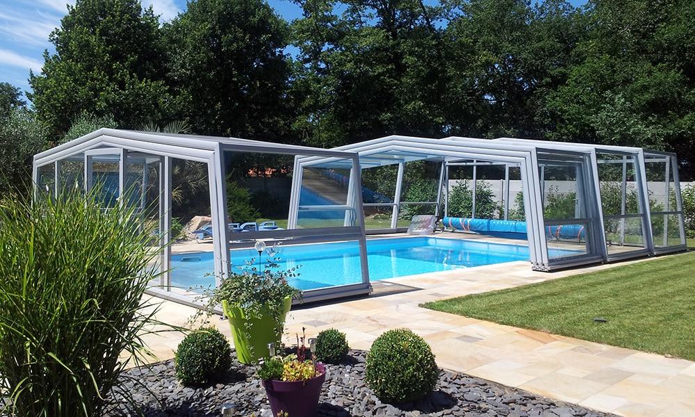 Abri de piscine haut Discret - Saint-Hilaire-de-Riez, France