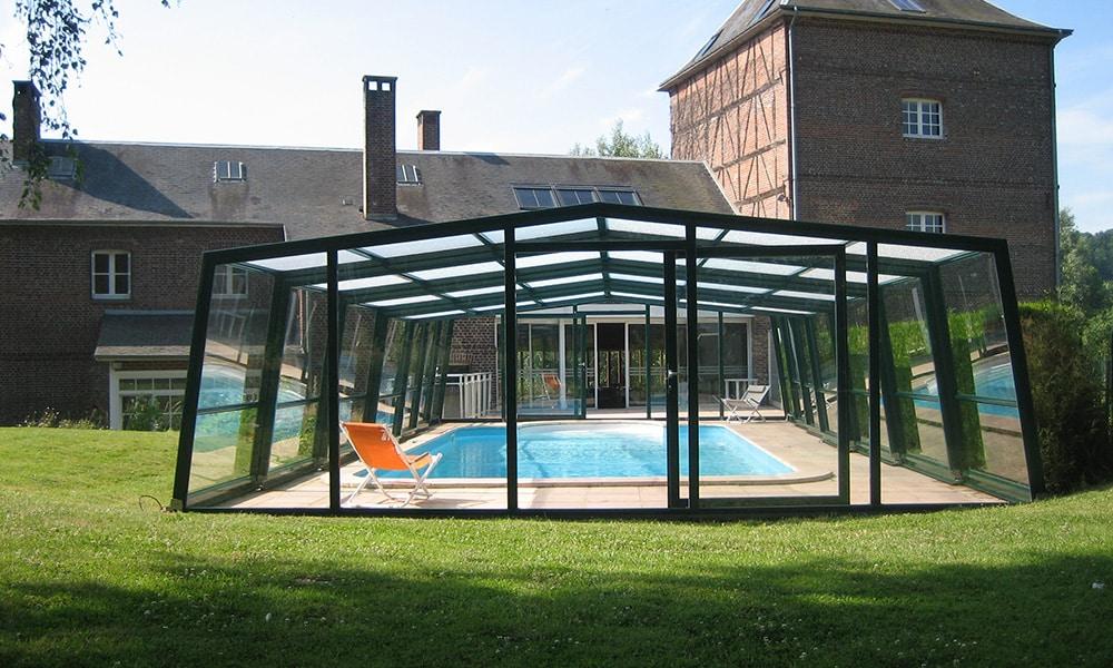 Abri de piscine adossé Façade - Ry (76)