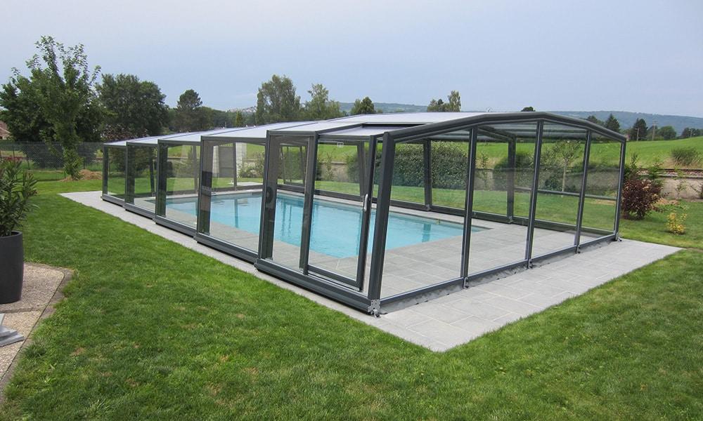 Abri de piscine mi-haut Discret - Saône (25)
