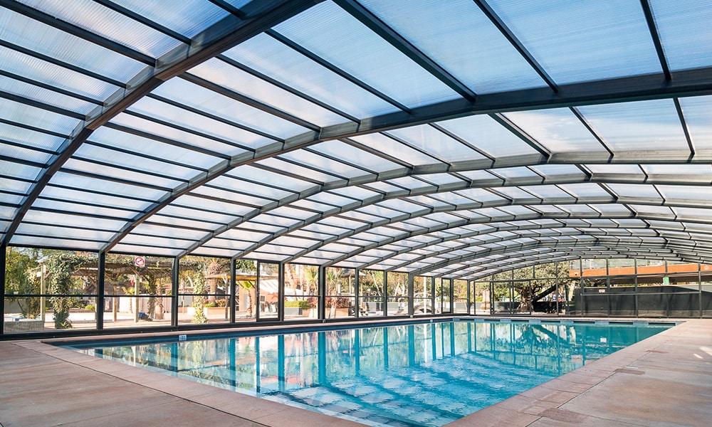 Abri de piscine Collectivités - Camping Les Sablons