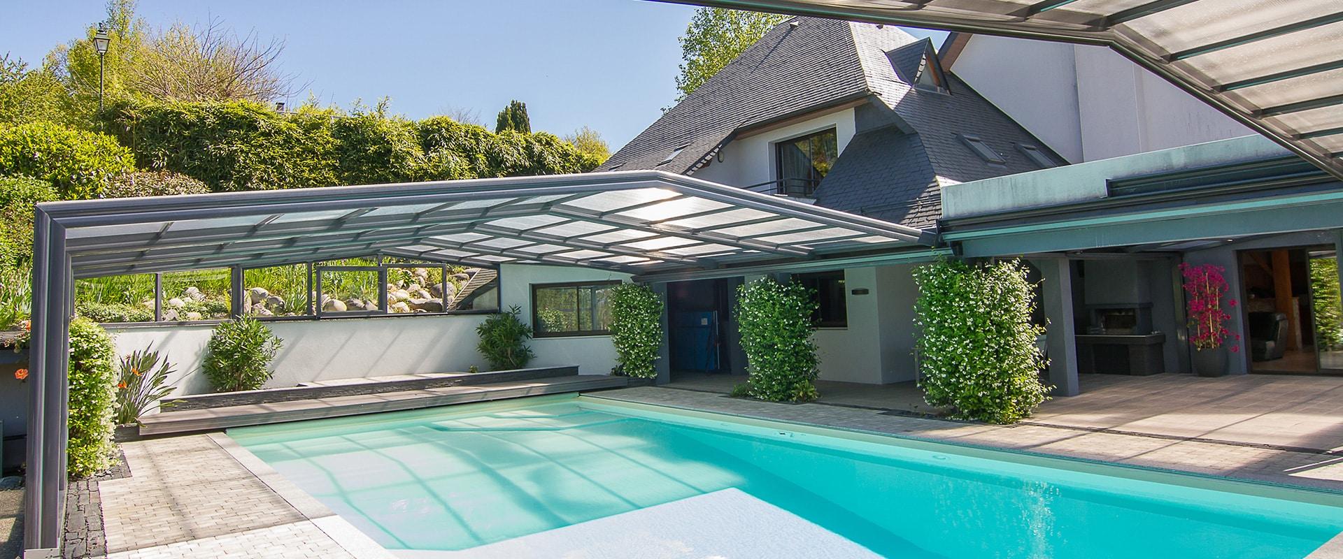 abris de piscine sur-mesure - abri piscine sur muret , entre murs…