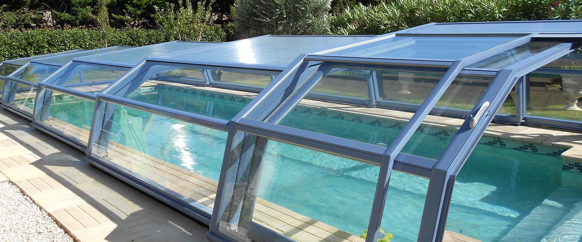 abris de piscine t lescopique bas ondine abri piscine bas. Black Bedroom Furniture Sets. Home Design Ideas