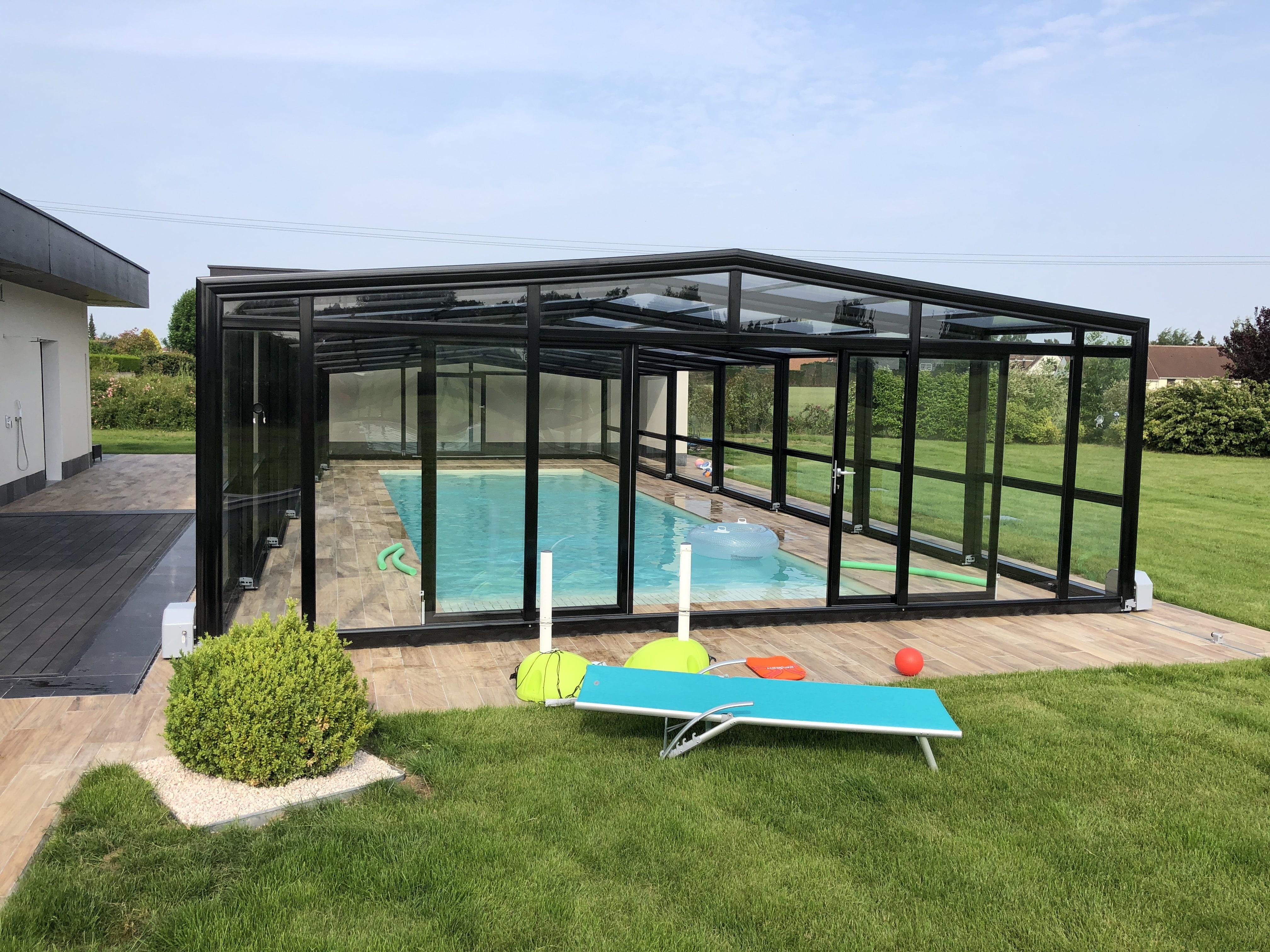 Abri de piscine adossé Façade - Merville (59)