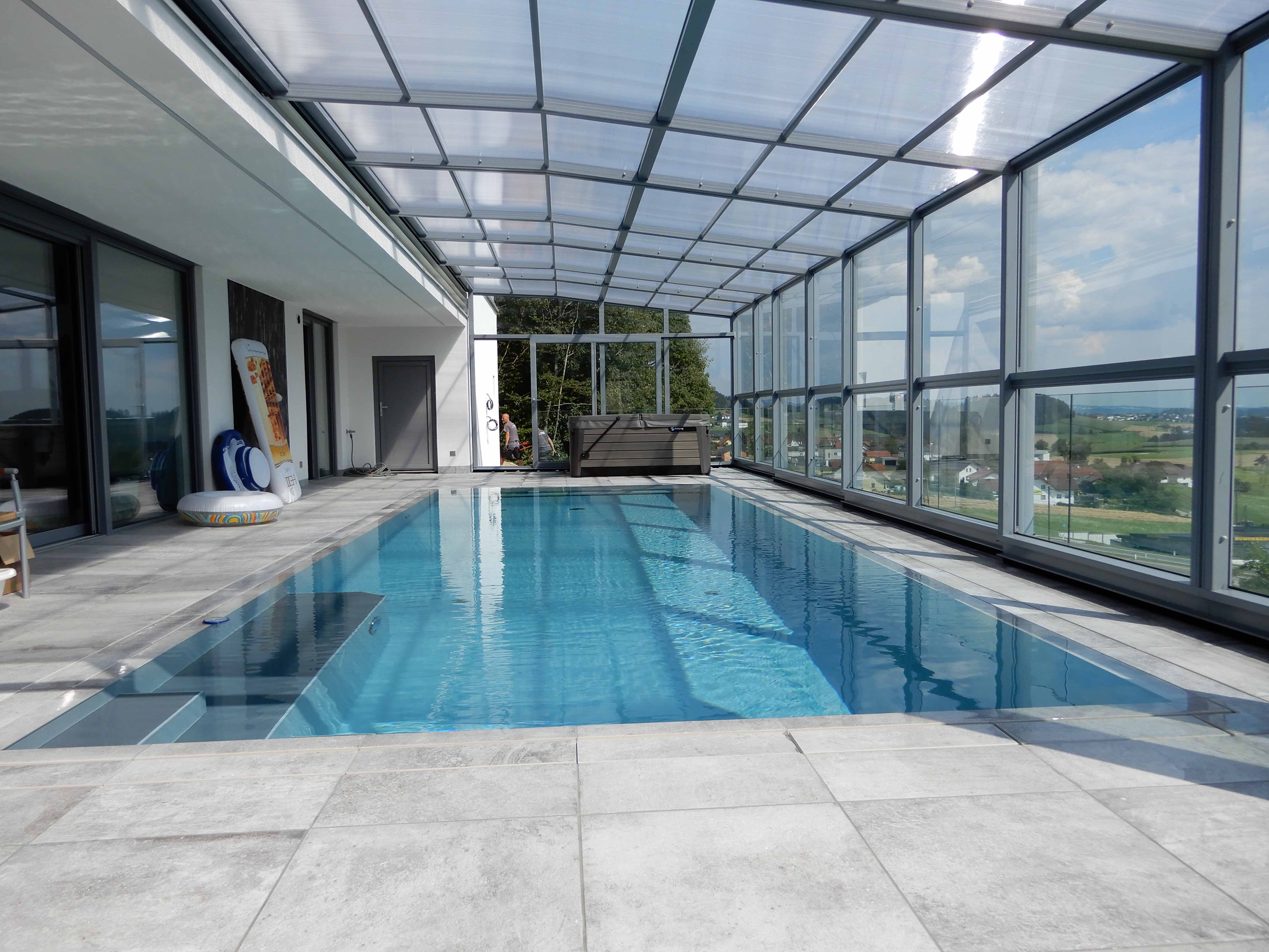 Abri de piscine haut Maestro - Oepping, Autriche