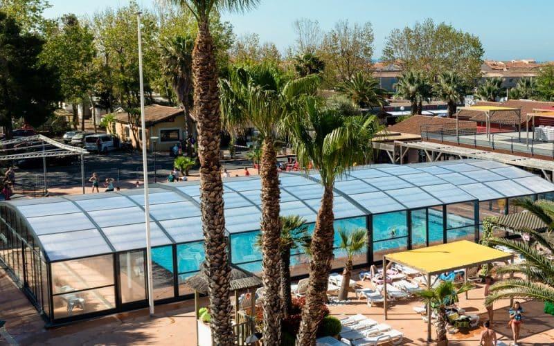 Abri piscine Camping